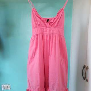 Pink Topshop Baby Doll Dress