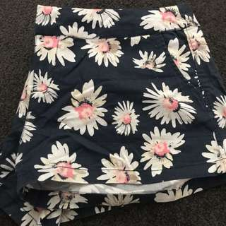 Super Cute Cotton On Flower Shorts