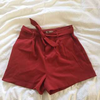 shorts with tie waist