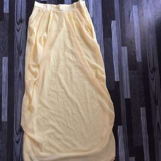 Yellow Drape Skirt