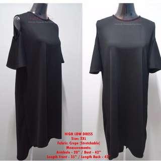 PLUS SIZE HIGH-LOW DRESS