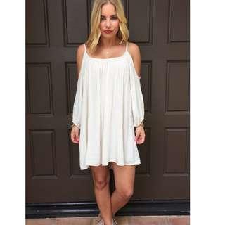 White Bohemian Off shoulder dress