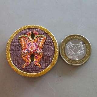 Kruba Krissana Butterfly Old Amulet