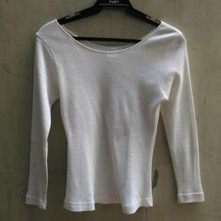 Basic White 3/4 Sleeve Top