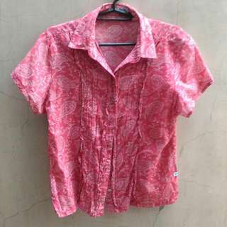 Basic Pink Office Blouse