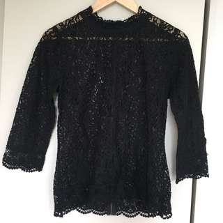 Lace Black Top