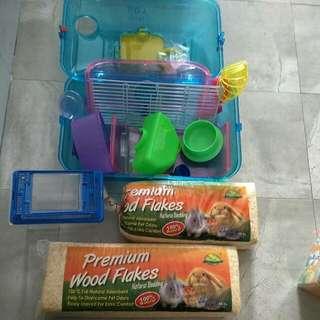 Preloved And New Hamster Set.