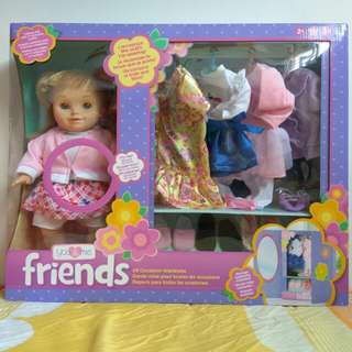 You & Me Friends Doll with 5 complete outfits