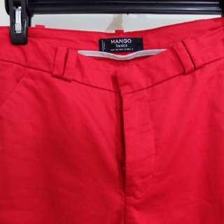 Mango Women's Red Pants