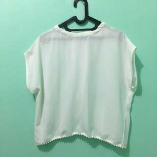 Cotton Ink White Top