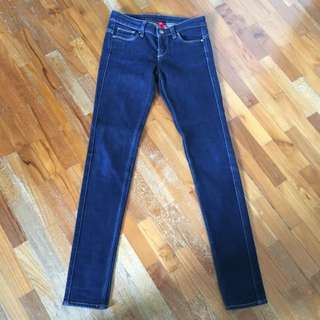 Uniqlo Slim Fit Tapered Dark Blue Jeans