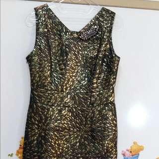 Golden Black Dress
