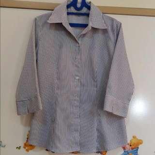 Blue Shirt 3/4