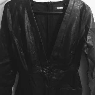 Faux Leather Bodycon Dress