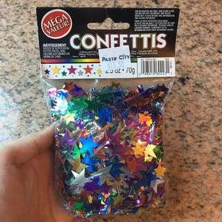 Confetti (Stars) BNIB