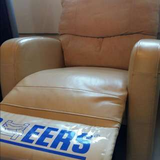 CHEERS Reclinable Leather Arm Chair