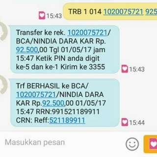 Alhamdulillah Bukti Trf Pembelian Pulsa Simp 50rb & Amplop Lebaran 01/05/17