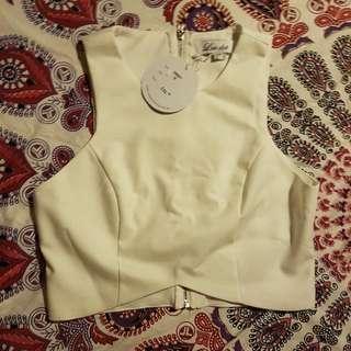White Crop Top BNWT Size 12