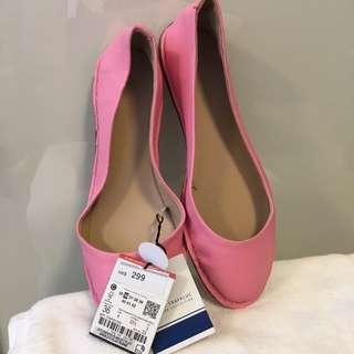 Zara Pink Flat Shoes