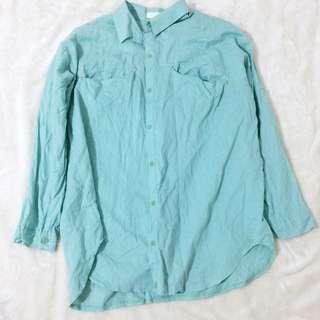 韓國製 Tiffany綠 襯衫/外套