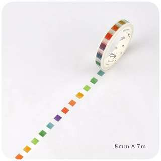 Rainbow Check Box Washi Tape #35