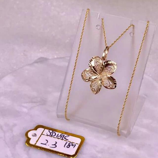 18k Saudi Gold Necklace And Pendant Guaranteed Pawnable/nasasangla..