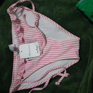 kamiseta pink striped bikini