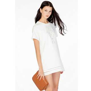 The Closet Lover Shantell Shift Dress (White)