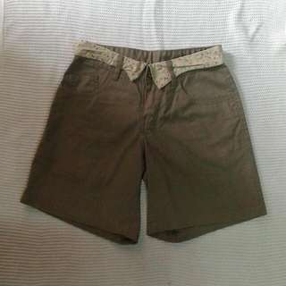 Brown High Cut Short