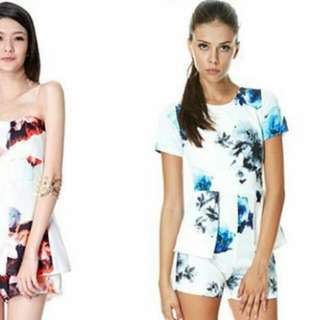 Tracy Einny Alexis Floral Playsuit (blue one on the right)
