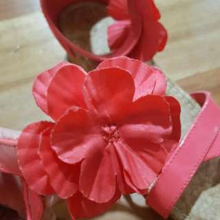 pink flower sandals for girls
