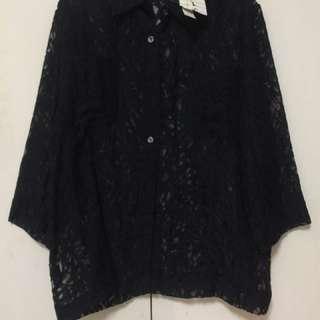 Black See Through Long sleeves