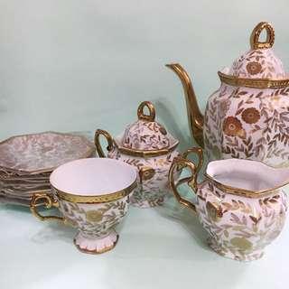 Yamasen 24k Gold Plated Tea Set