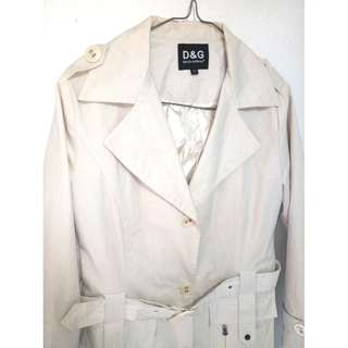 D&G DOLCE & GABBANA Ladies Beige Trench Coat