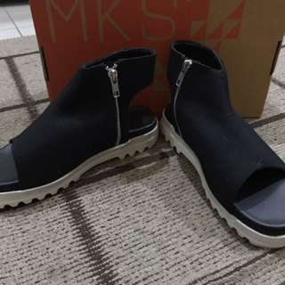 MKS Black Canvas Sandals
