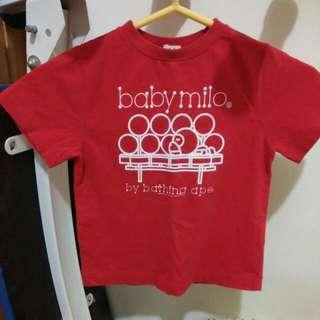 BAPE (KIDS)紅色短袖上衣