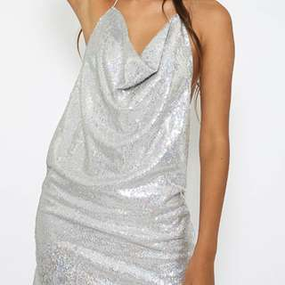 HARLEM DRESS SILVER! Size10