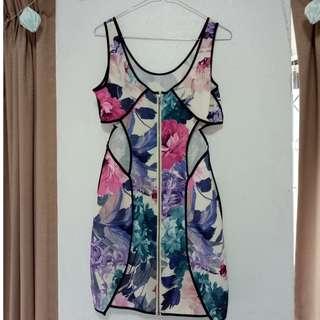 ASOS Floral Cut-Out Dress Size 10