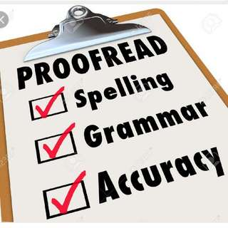 Proofreading/Editing Services!