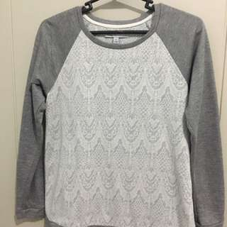 Grey And White Light Sweater
