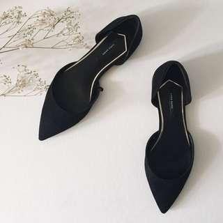 zara 平底尖頭鞋 黑色37 #五百元好女鞋