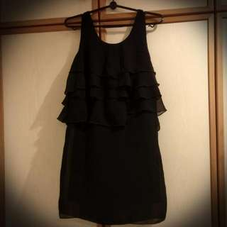 Love Bonito Black Dress With Ruffled Front (Free Size) 10/10