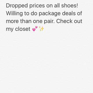 Shoe Price drop
