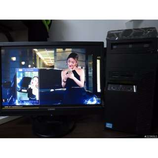 LENOVO 聯想專業級商用主機組含螢幕i5 4執行續核心(2400 ACER ASUS DELL參考