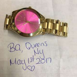Authentic Mk Michael Kors Watch Pink