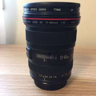 Canon L 17-40mm Lens