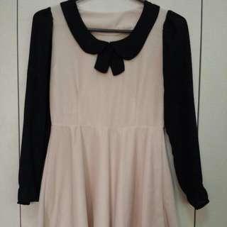 Repriced! Cream/black Dress