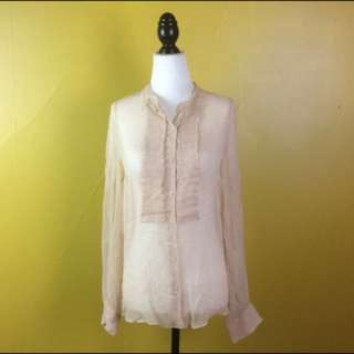 Witchery Pure Silk Blouse Size 10