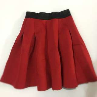 Stretchable A- Line Skirt With Zipper