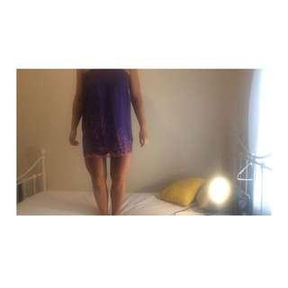 Top Shop Purple Dress Size Small